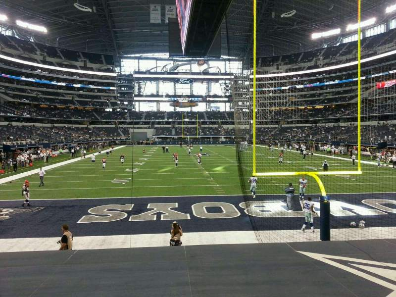 Seating view for AT&T Stadium Section 124 Row 8 Seat 8