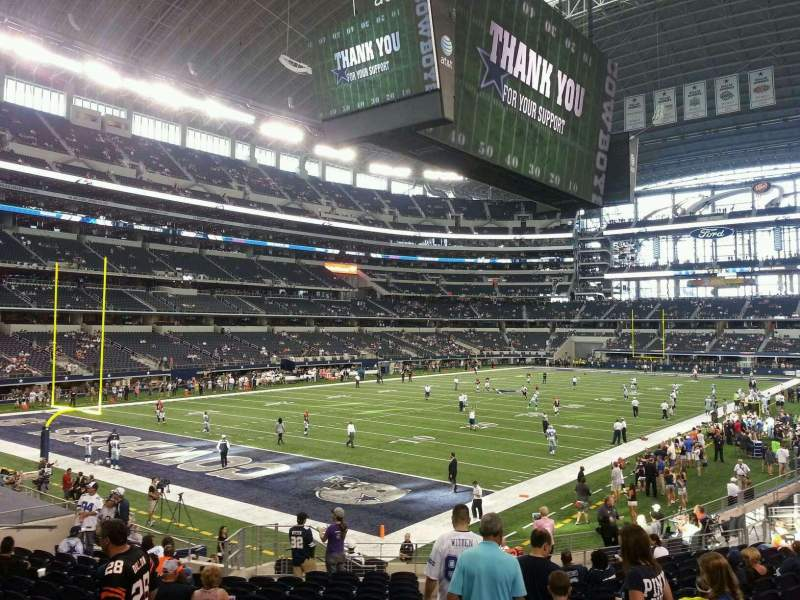 Seating view for AT&T Stadium Section 120 Row 20 Seat 1