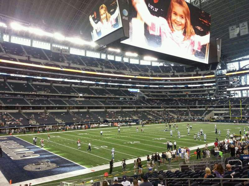 Seating view for AT&T Stadium Section 118 Row 18 Seat 10