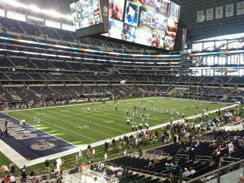 Seating view for AT&T Stadium Section 217 Row 4 Seat 3