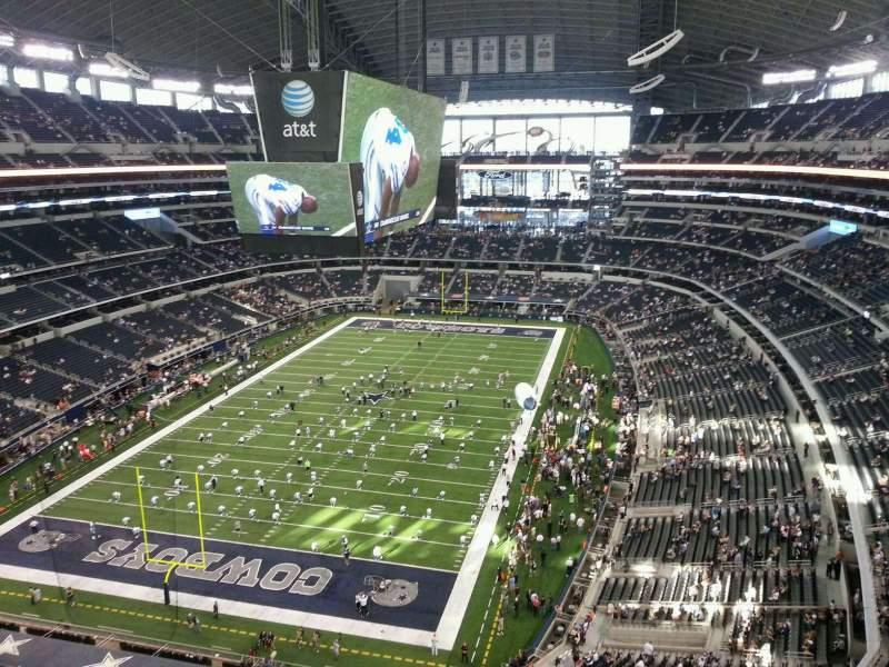 Seating view for AT&T Stadium Section 423 Row 5 Seat 18
