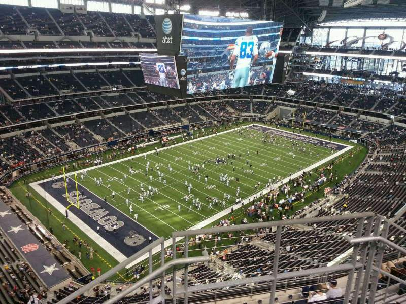 Seating view for AT&T Stadium Section 420 Row 10 Seat 2