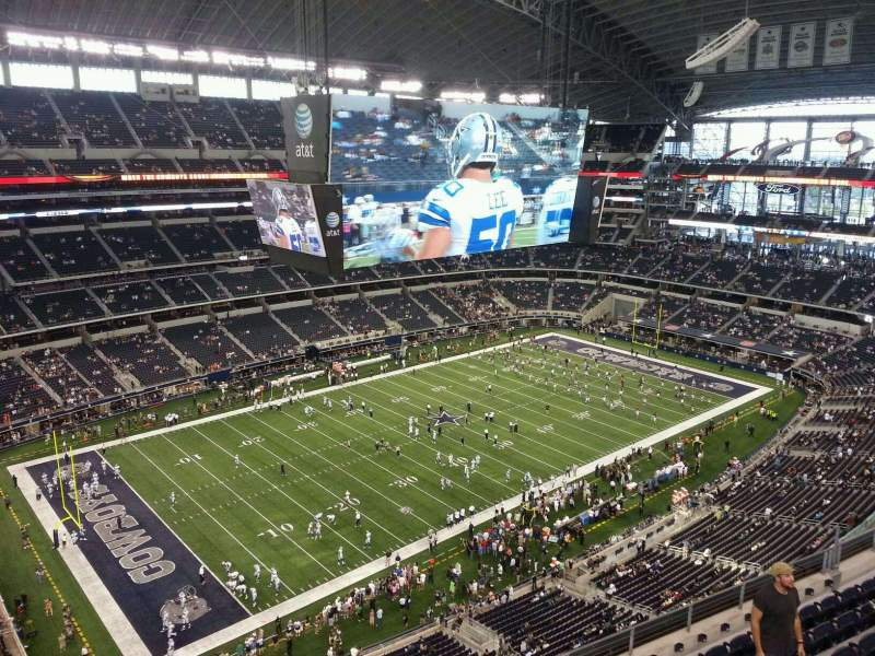 Seating view for AT&T Stadium Section 418 Row 9 Seat 13