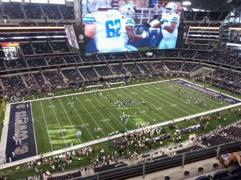 Seating view for AT&T Stadium Section 416 Row 5 Seat 22