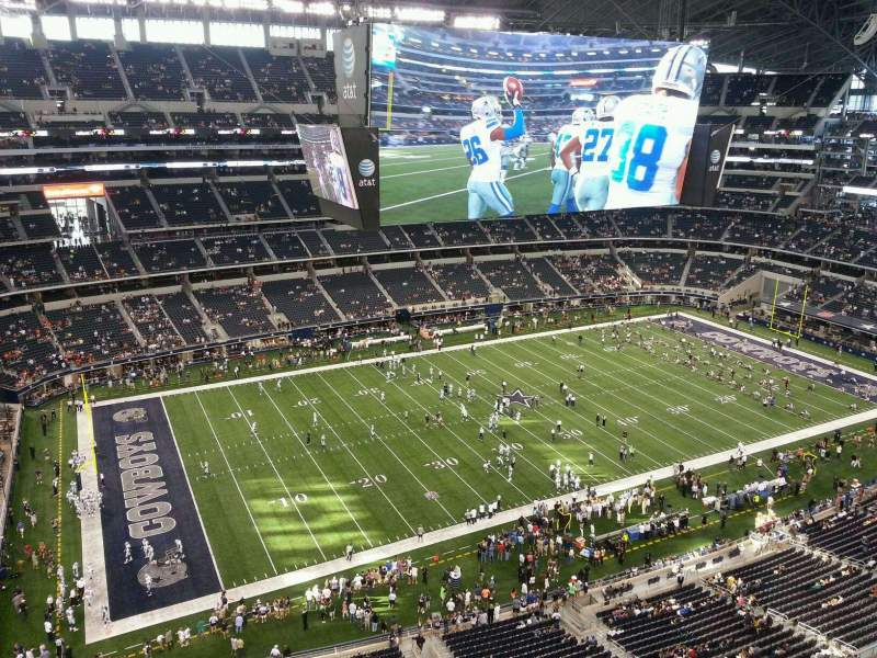 Seating view for AT&T Stadium Section 416 Row Handicap R
