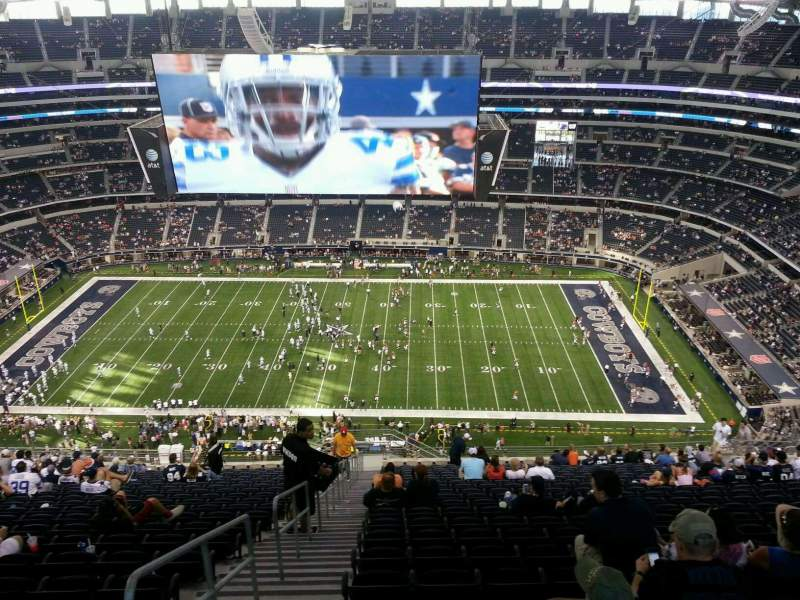 Seating view for AT&T Stadium Section 411 Row 30 Seat 26