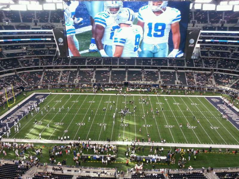 Seating view for AT&T Stadium Section 412 Row Handicap R