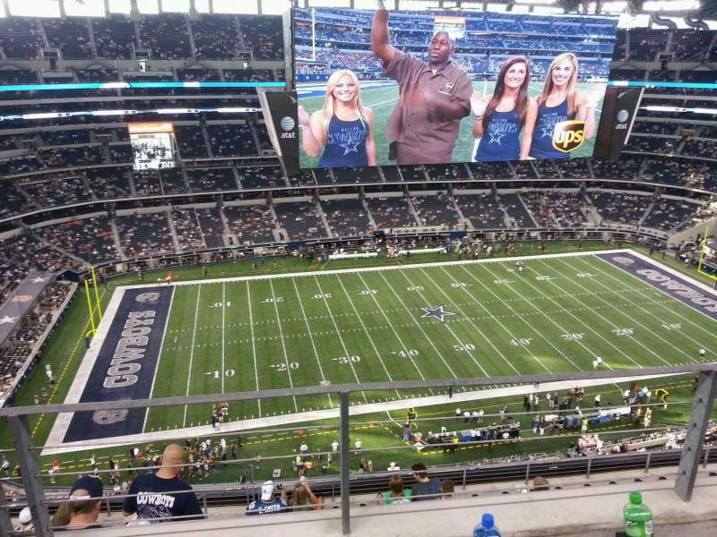 Seating view for AT&T Stadium Section 415 Row 8 Seat 12