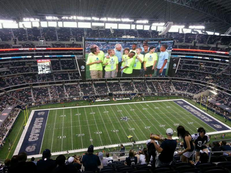 Seating view for AT&T Stadium Section 415 Row 25 Seat 7