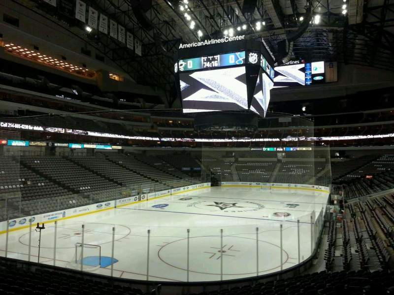 Seating view for American Airlines Center Section 123 Row S Seat 16