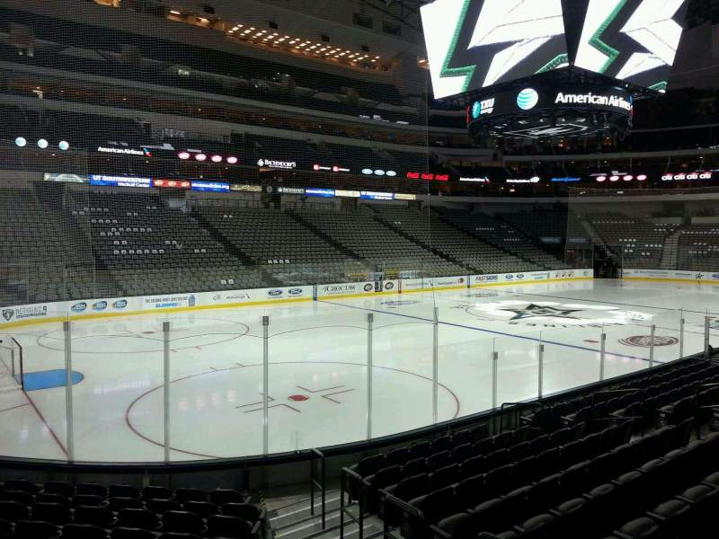 Seating view for American Airlines Center Section 122 Row L Seat 2