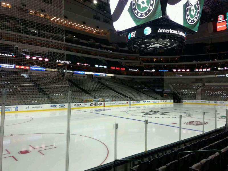Seating view for American Airlines Center Section 121 Row F Seat 7