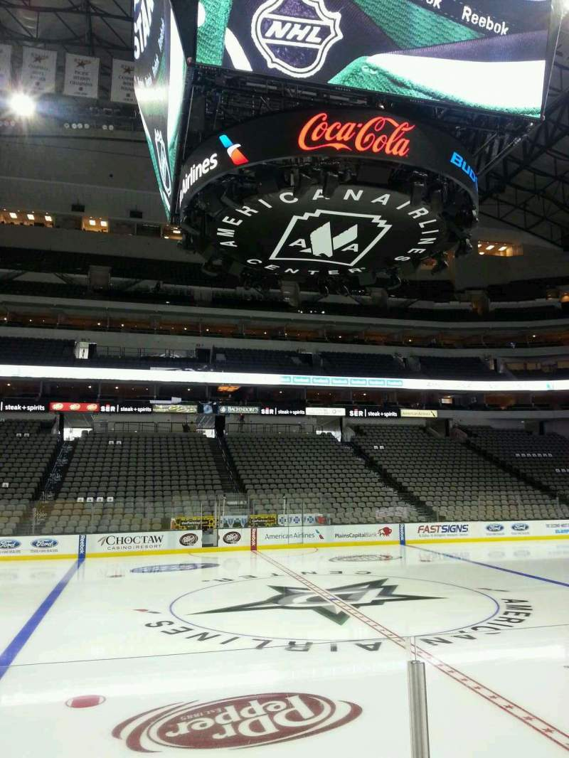 Seating view for American Airlines Center Section 119 Row F Seat 10