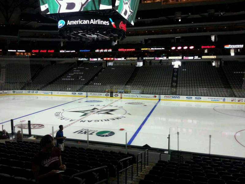 Seating view for American Airlines Center Section 117 Row R Seat 16