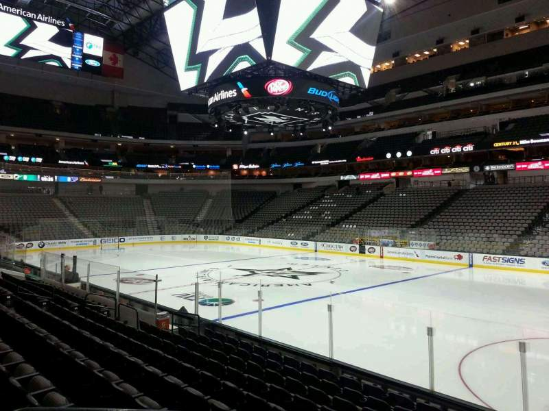 Seating view for American Airlines Center Section 116 Row K Seat 10