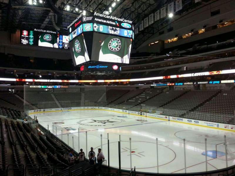 Seating view for American Airlines Center Section 114 Row S Seat 19