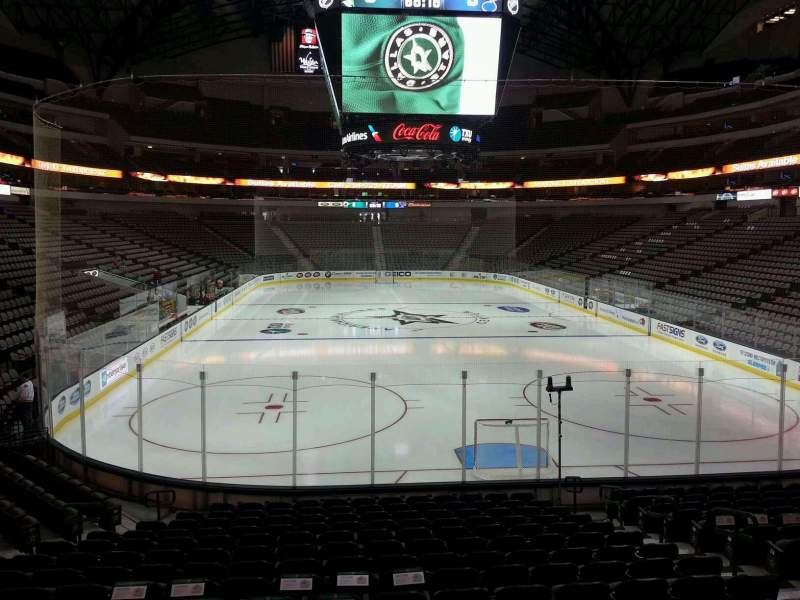 Seating view for American Airlines Center Section 113 Row R Seat 8