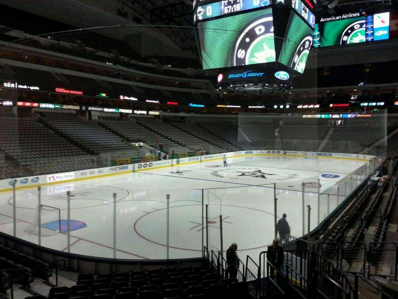 Seating view for American Airlines Center Section 111 Row O Seat 6