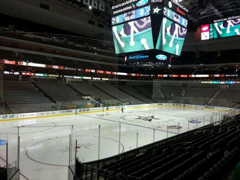 Seating view for American Airlines Center Section 110 Row P Seat 6