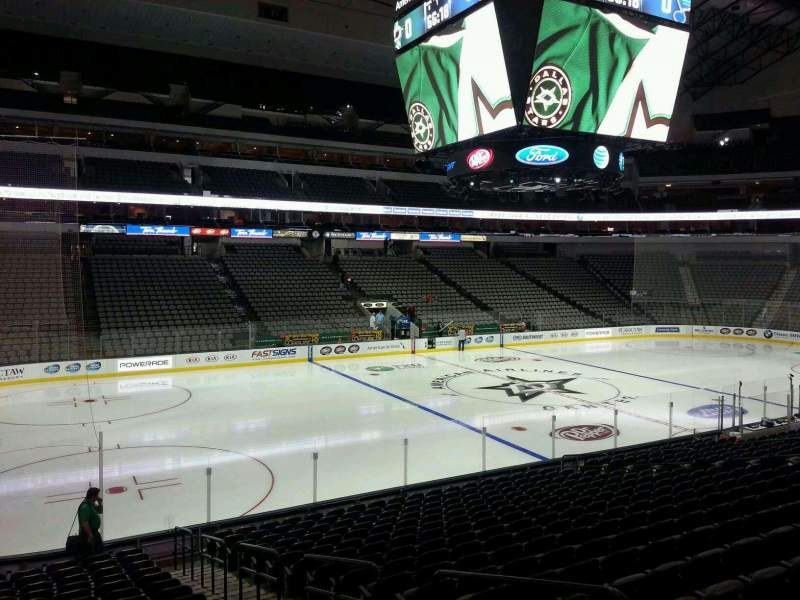 Seating view for American Airlines Center Section 109 Row T Seat 4