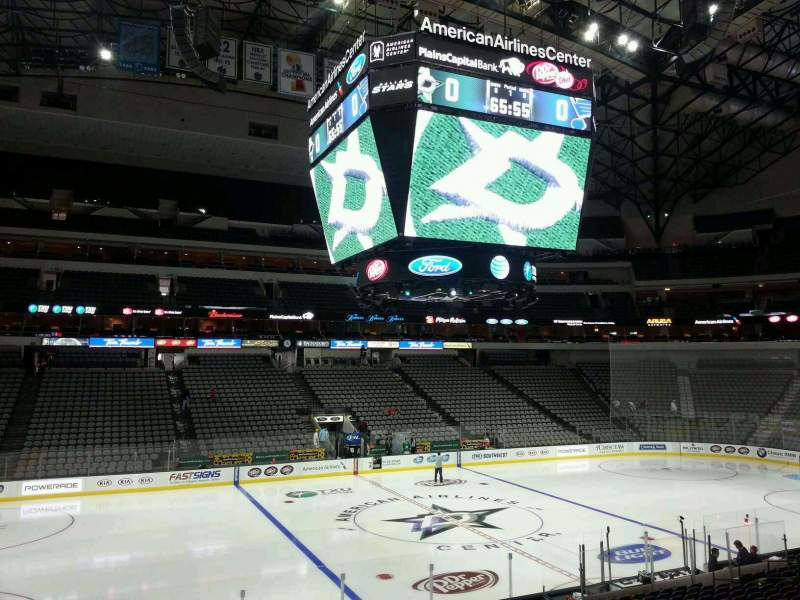 Seating view for American Airlines Center Section 108 Row V Seat 10