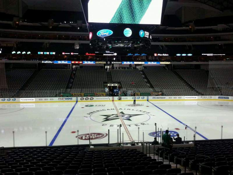 Seating view for American Airlines Center Section 107 Row U Seat 6