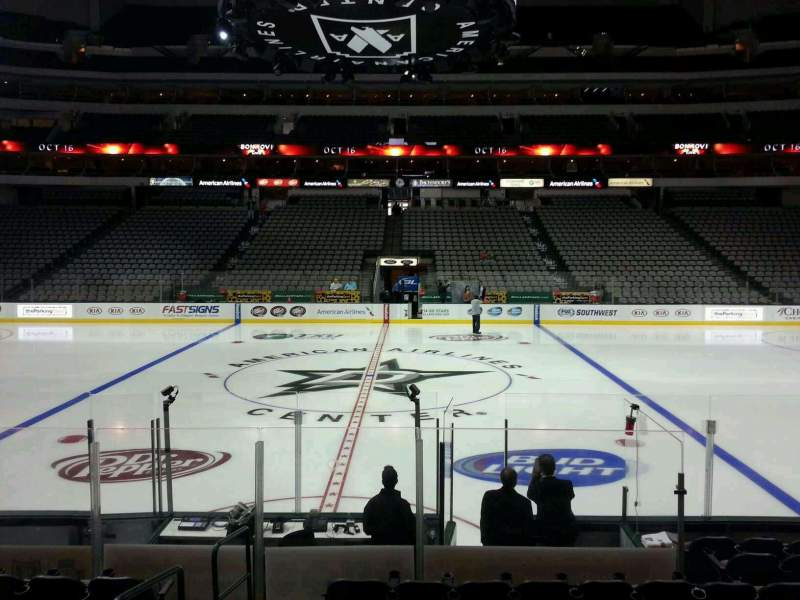 Seating view for American Airlines Center Section 106 Row K Seat 17