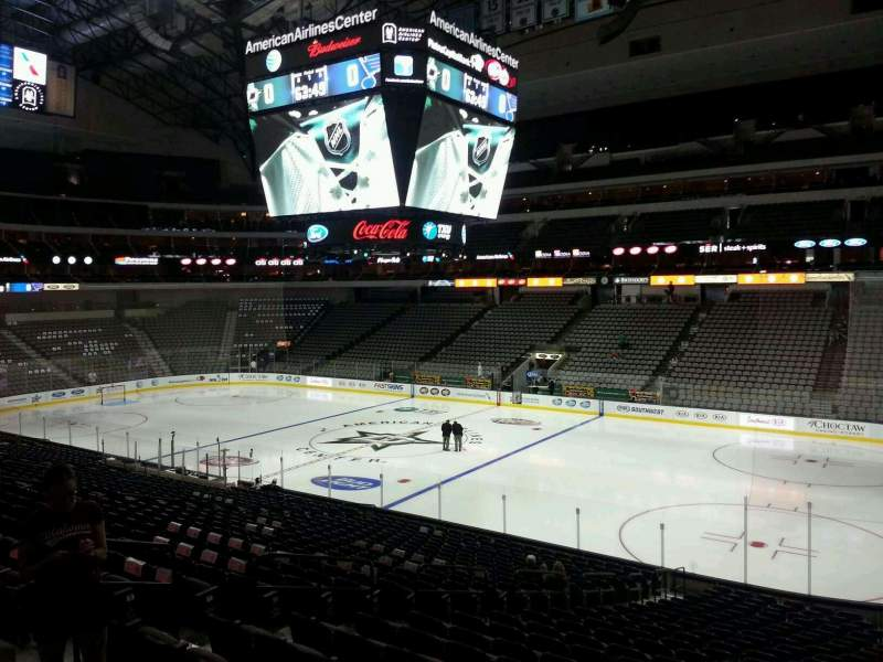 Seating view for American Airlines Center Section 104 Row Z Seat 13