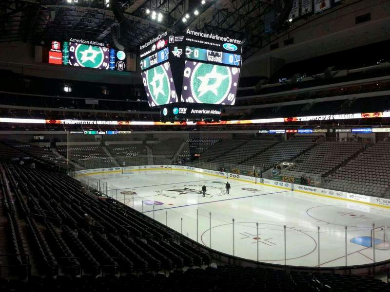 Seating view for American Airlines Center Section 103 Row Y Seat 1