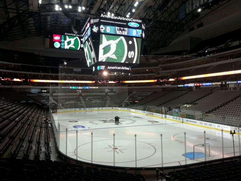 Seating view for American Airlines Center Section 102 Row R Seat 3