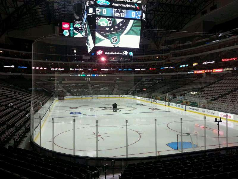 Seating view for American Airlines Center Section 101 Row O Seat 20