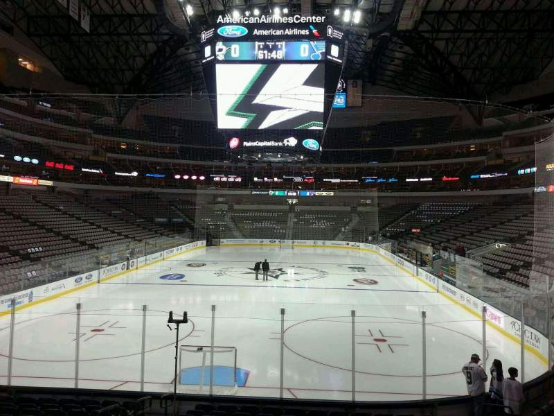 Seating view for American Airlines Center Section 124 Row P Seat 17