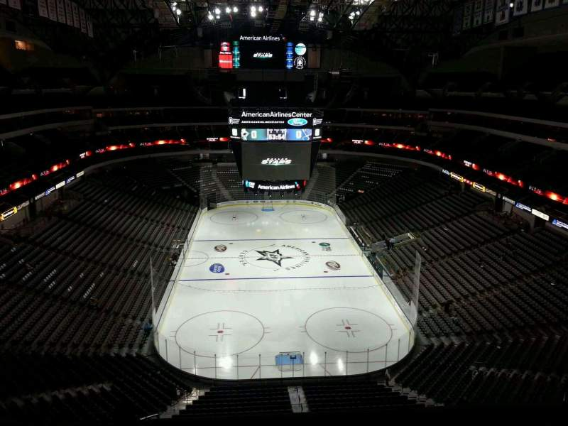 Seating view for American Airlines Center Section 301 Row H Seat 18