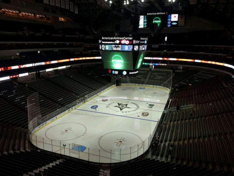 Seating view for American Airlines Center Section 333 Row EE Seat 8