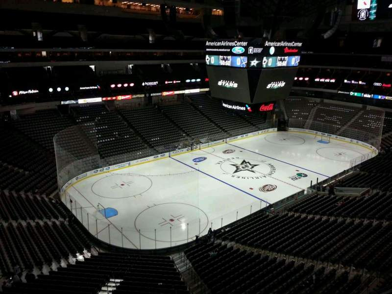 Seating view for American Airlines Center Section 331 Row A Seat 1