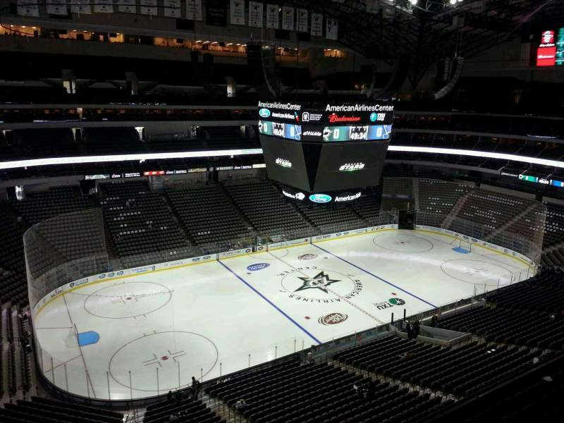 Seating view for American Airlines Center Section 329 Row D Seat 22