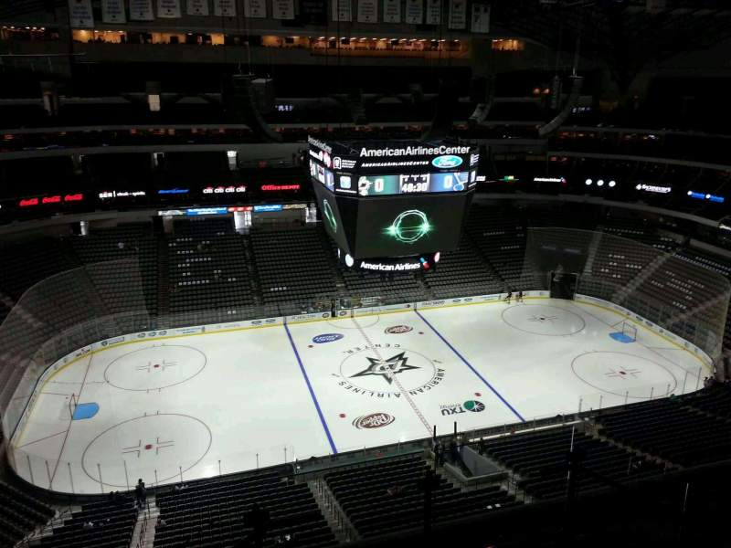 Seating view for American Airlines Center Section 328 Row J Seat 2