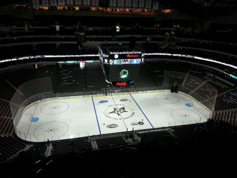 Seating view for American Airlines Center Section 327 Row T Seat 20