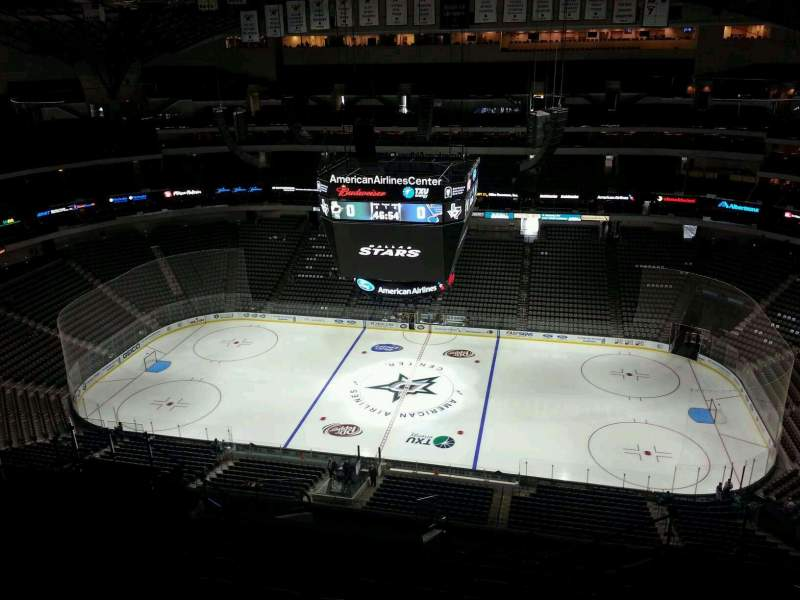 Seating view for American Airlines Center Section 325 Row R Seat 5