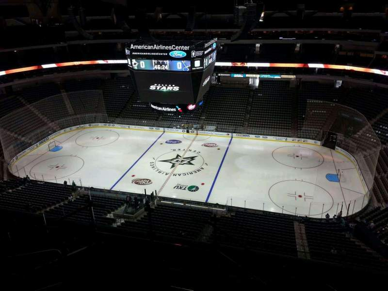 Seating view for American Airlines Center Section 324 Row K Seat 29