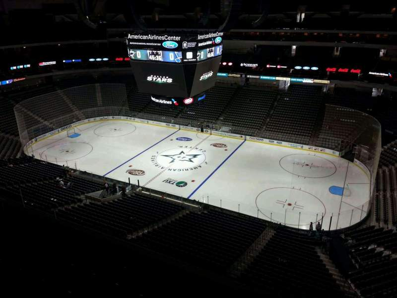 Seating view for American Airlines Center Section 324 Row F Seat 7