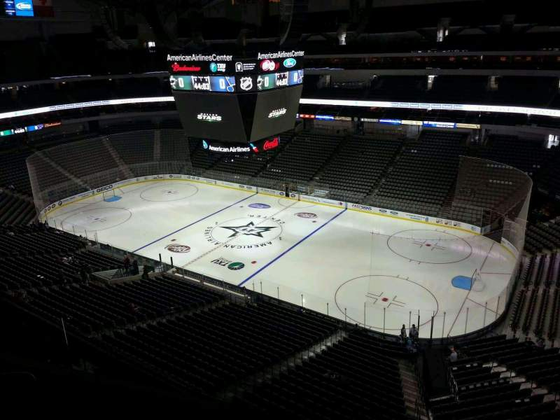 Seating view for American Airlines Center Section 323 Row D Seat 12