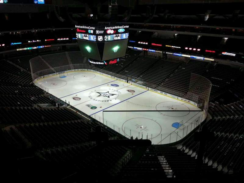Seating view for American Airlines Center Section 322 Row G Seat 1