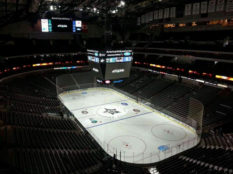 Seating view for American Airlines Center Section 321 Row J Seat 4