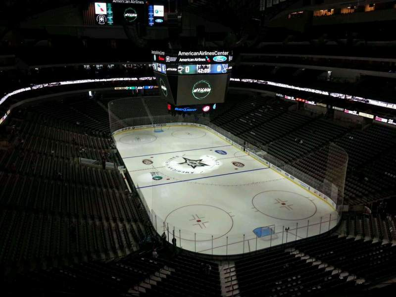 Seating view for American Airlines Center Section 320 Row E Seat 10