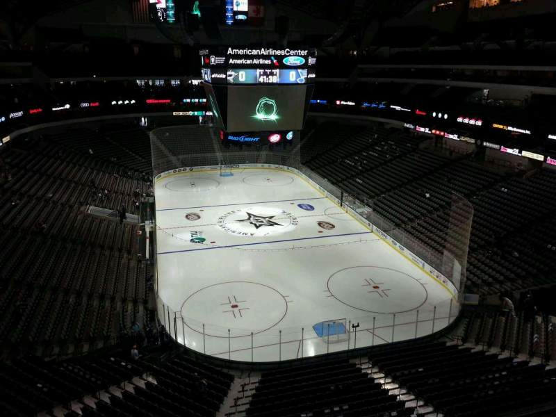 Seating view for American Airlines Center Section 319 Row A Seat 13