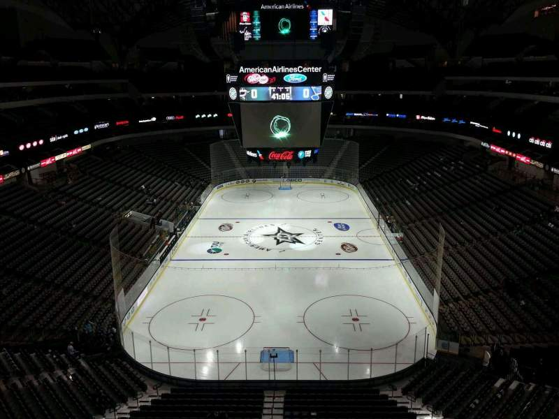 Seating view for American Airlines Center Section 318 Row B Seat 7