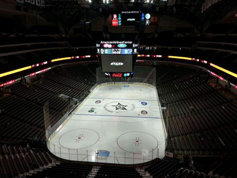 Seating view for American Airlines Center Section 317 Row F Seat 16