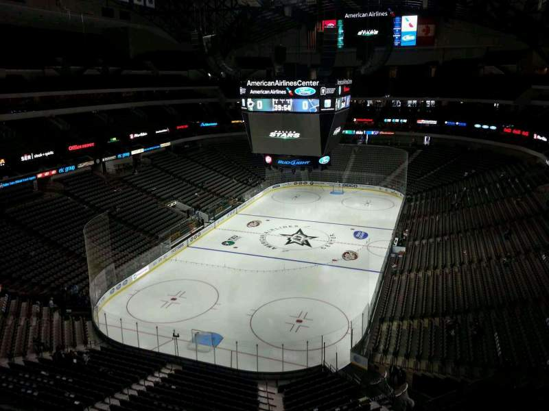 Seating view for American Airlines Center Section 316 Row D Seat 16