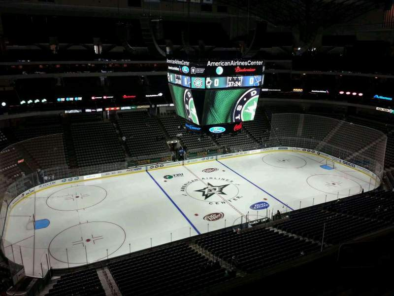 Seating view for American Airlines Center Section 312 Row E Seat 6
